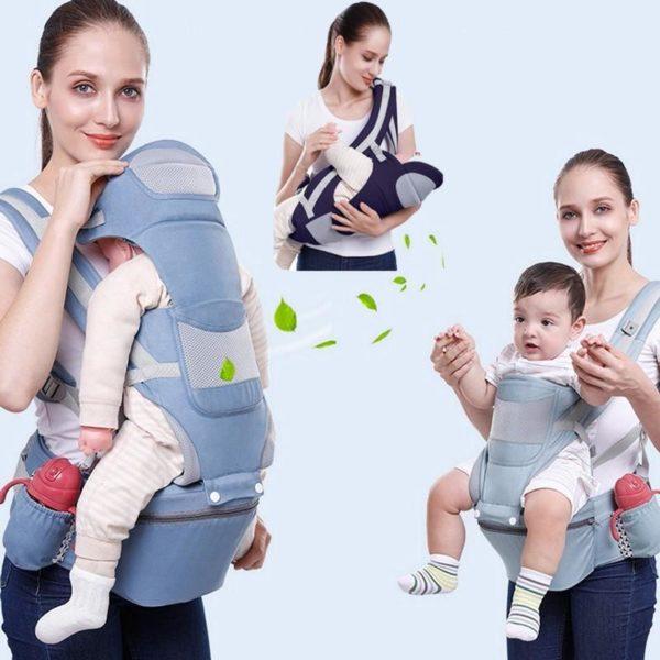Porte-bébé Ergonomique : Protéger la Colonne Vertébrale de Votre Bébé - Bleu foncé