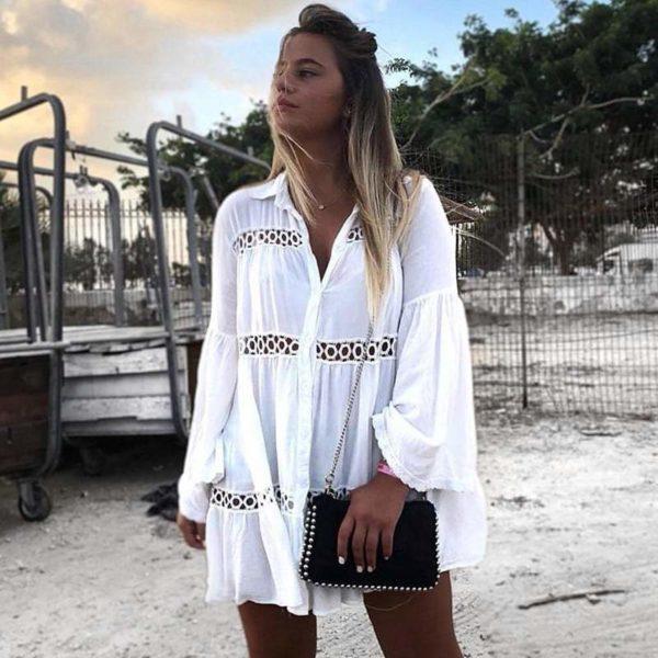 Robe De Plage D'été Pour Femme: Léger Comme Une Plume Et Fluide Comme Le Vent - L