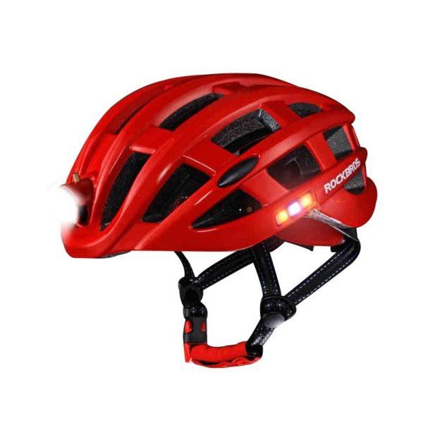 Rockbros Ciclismo Casco Ultraligero Bicicleta De Monta a Camino De La Bicicleta Casco Carretera Con Luz Casque De Vélo : Ne Vous Laissera Plus Jamais Rouler Dans Le Noir