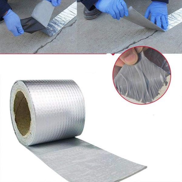 Ruban Imperméable Collant : Scellant Extrêmement Visqueux et Sensible à La Pression - 5m x 30cm