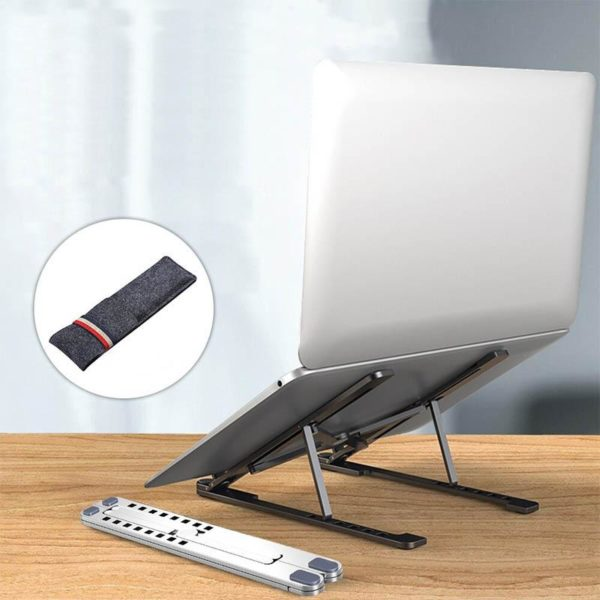 SUPPORTD ORDINATEURPORTABLEPLIABLE Support D'ordinateur Portable Pliable : Visualisation, Lecture Et Saisie Confortables