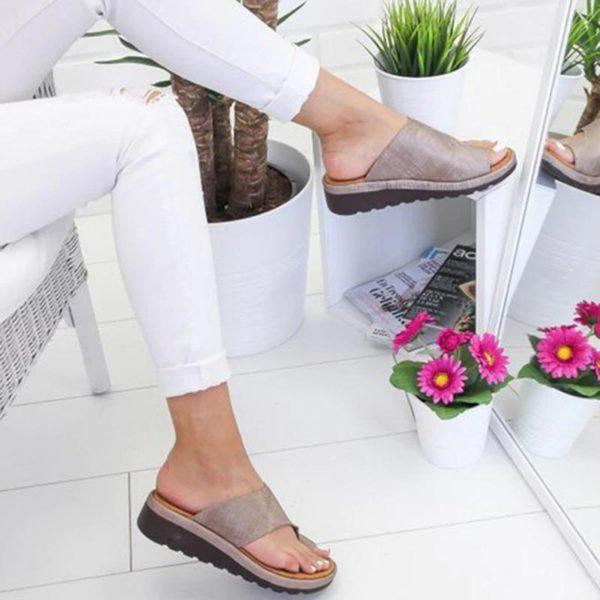 SandalesOrthopediquesPourFemmesBBG 4 Sandales Orthopédiques Pour Femmes: Sandales Plateformes Confortables Pour Femmes