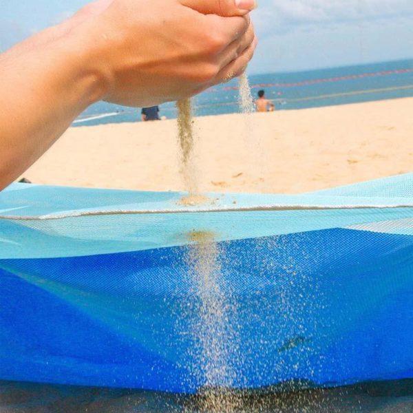 SandfreiStrandmatte2 Sable-gratuit Plage Tapis: Extrêmement Durable, Ultra-léger Et Peut Se Plier En Une Petite Forme