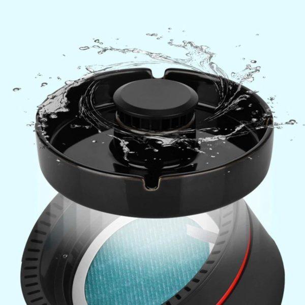 SansFumeeCendrierPurificateur 8 Sans Fumée Cendrier Purificateur: Multifonctionnel Intérieur Petit Cendrier Purificateur D'air