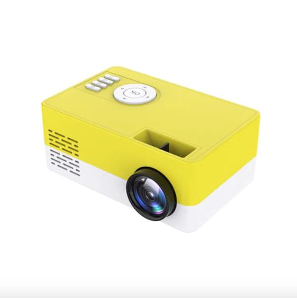Mini Vidéoprojecteur LCD : Portable et Compact Maison Cinéma - Jaune