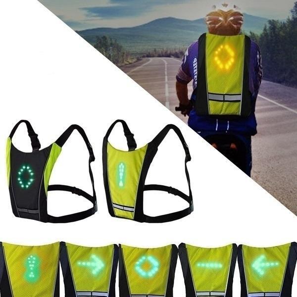 SecuriteGiletdeCyclismeaLEDRechargeableparUSB Sécurité Gilet de Cyclisme à LED : Rechargeable par USB