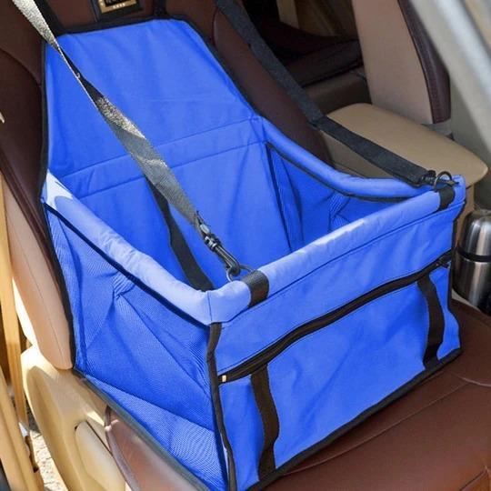 Siège Automobile Pour Animaux : Sac De Protection Voiture Pour Animaux De Compagnie - Bleu