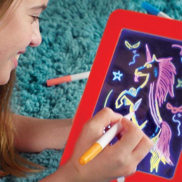 Tablette à Dessin LED Éducatif Pour Enfants - Orange