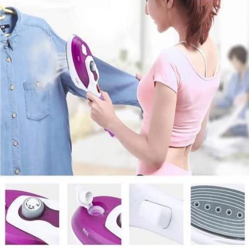 Repasser Portable avec Défroisseur : Parfait Pour Toutes les Sortes de Tissus - Violet / Stil 1