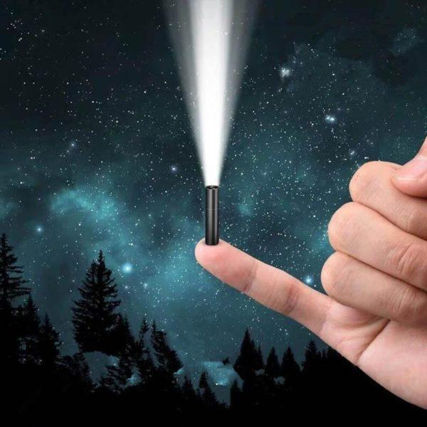 SuperHelleMiniLicht 2 Mini Lumière Extrême Brillante: Mini Lampe De Poche, À 3 Modes Usb Rechargeable Lampe De Poche