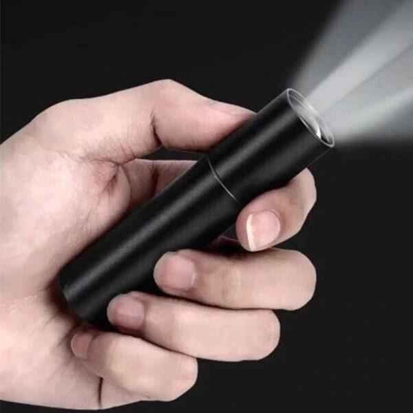 SuperHelleMiniLicht 6 Mini Lumière Extrême Brillante: Mini Lampe De Poche, À 3 Modes Usb Rechargeable Lampe De Poche