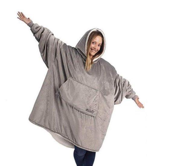 Sweatshirt à Capuche : Sweat à Capuche Géant Que Vous Pouvez Transformer en Couverture! - Gris