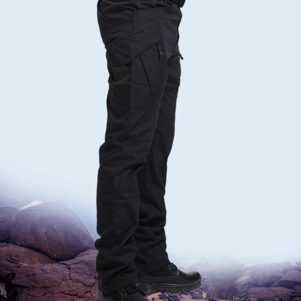 Pantalon Tactique: Pantalons De Bonne Qualité Et Imperméables Pour Usages Multiples - Noir / S(76-81 CM)