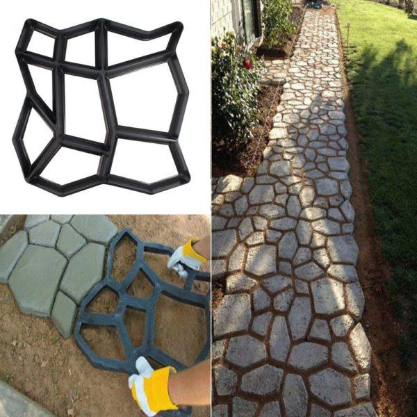 Trancheuse de charge coupe chemin fabricant moule maison jardin d coration r utilisable b ton ciment Moule Pour Pavage de Jardin : Retiennent le Coulis de Ciment