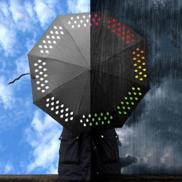 Tri fold umbrella Gift Color Change Umbrella Colour Changing Umbrella When it encounters water 0ebcd42c d5a2 4983 ad6f 0f88787e8f35 Parapluie Changeant De Couleur: Ce Sera ChangerDe Couleur Au Contact De La Pluie