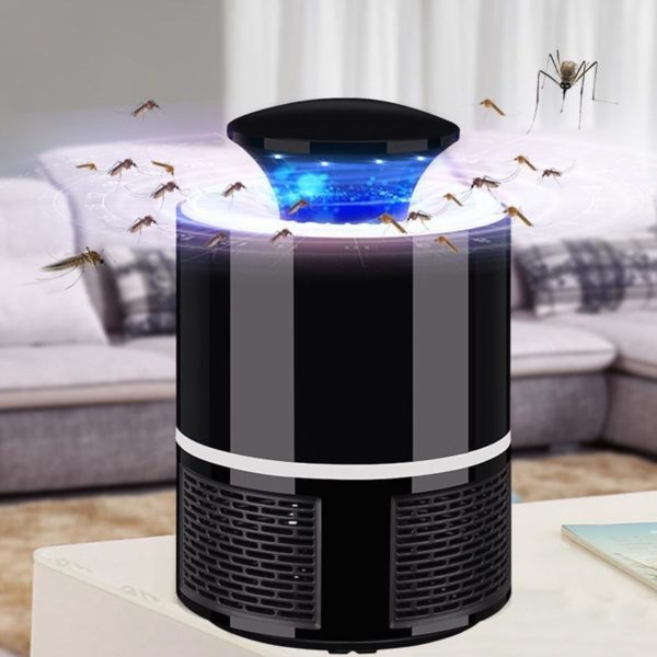 MoustiKill : Lampe Électrique Anti-Moustiques à Lumière LED et Aspiration Puissante - Noir