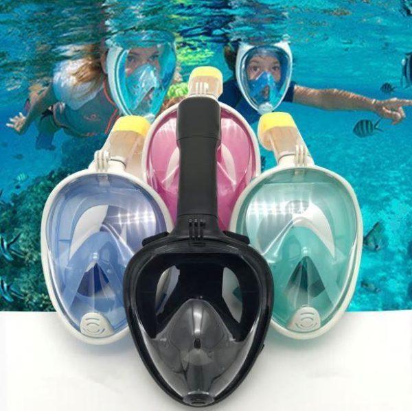 Couverture faciale De Snorkeling Anti-buée - Noir / Adulte