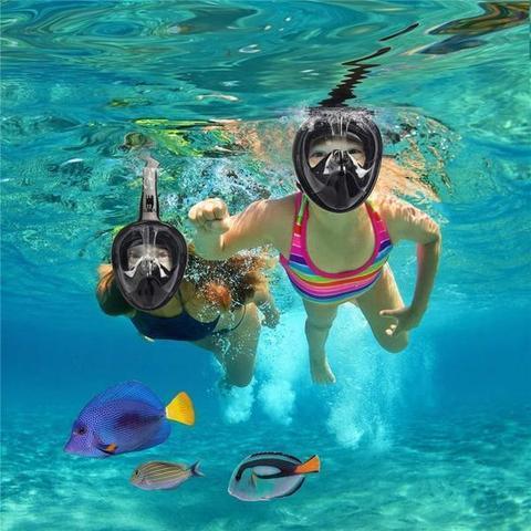 Couverture faciale De Snorkeling Anti-buée - Noir / Enfant