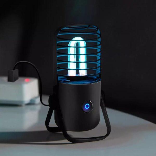 Lampe Stérilisatrice Portable : Technologie Scientifiquement Éprouvée Et Efficace - Noire