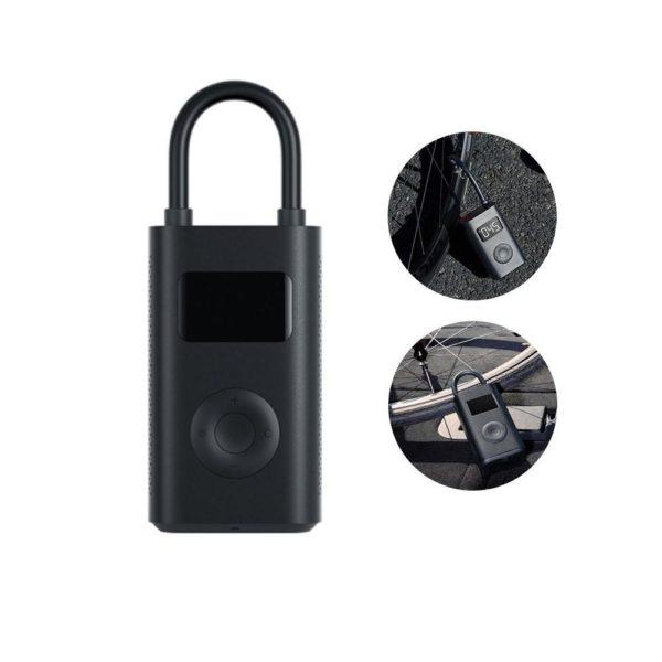 XiaomiMijiaPortableInflatorMiniSmartLEDDigitalTirePressureSensorEl 10 Gonfleur Portable Avec Capteur de Pression des Pneus: De Réduire les Risques D'accidents