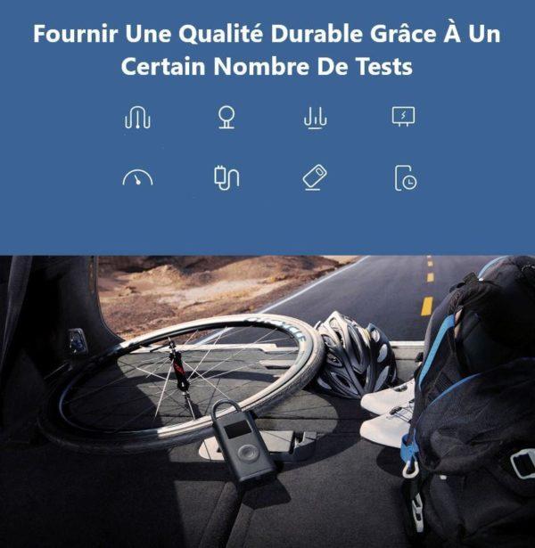 XiaomiMijiaPortableInflatorMiniSmartLEDDigitalTirePressureSensorEle 3 Gonfleur Portable Avec Capteur de Pression des Pneus: De Réduire les Risques D'accidents
