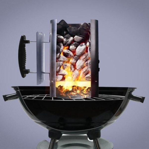 arbecue barbecue barbecue acier galvani description 5 Godet D'allumage À Charbon: Votre Charbon Flambera En Très Peu De Temps