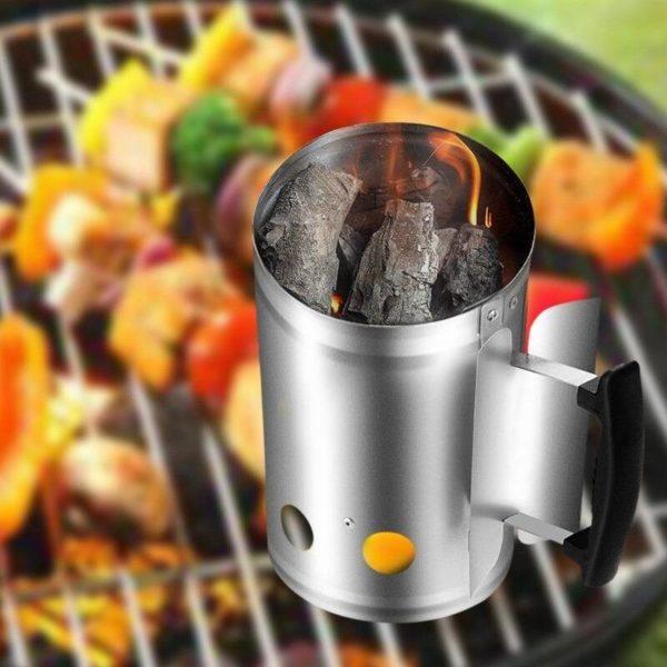 arbecue barbecue barbecue acier galvani description 6 Godet D'allumage À Charbon: Votre Charbon Flambera En Très Peu De Temps