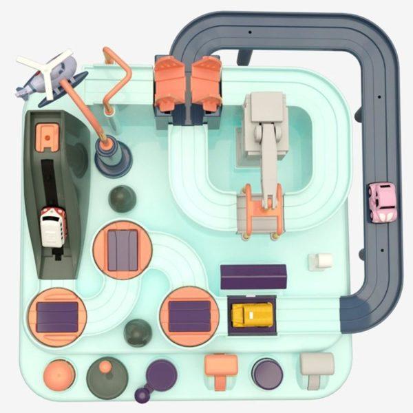 ducation wagon jouet cologique b b aventure jouet voiture Macaron couleur Table jeux gar on d8d805f8 62e8 4033 93d5 f3aa9b1b3df4 Puzzle Jeu Circuit de Véhicules : Aventures Écologiques et Éducatives