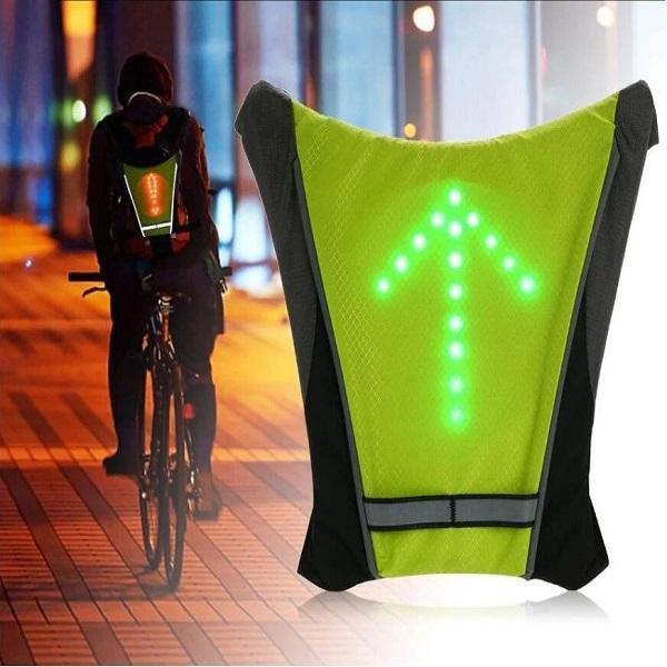 Sécurité Gilet de Cyclisme à LED : Rechargeable par USB - jaune