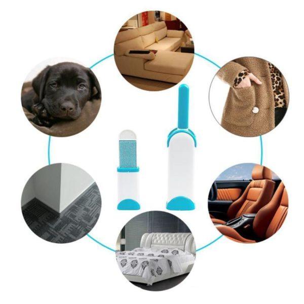 ff Brosse à poils d'animaux antistatique : élimine tous types de poils, poils ou saletés