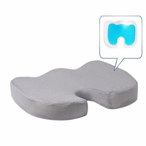 Coussin D'assise Orthopédiqu : Soulage les Maux de Dos et Améliore la Circulation - Gris