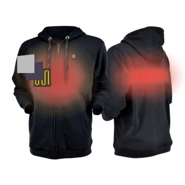 Sweat À Capuche Sport Chauffant : Gardez Votre Corps au Chaud et Confortable - Noire / XS(106 cm) / Sweat à capuche only