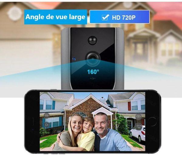 kerui 720 p video doorbell camera interco description 14 Sonnette Connectée : Sonnette Sans Fil Avec Caméra Audio 1080P
