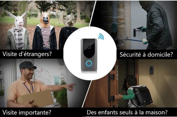 kerui 720 p video doorbell camera interco description 5 Sonnette Connectée : Sonnette Sans Fil Avec Caméra Audio 1080P