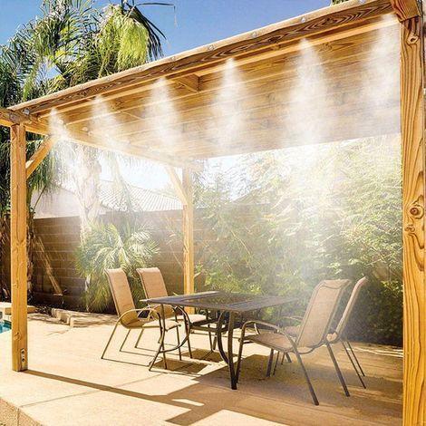 Pulvérisateur D'extérieur De Style Mist: Moyen Performant Et Efficace Pour Lutter Contre La Chaleur - Noir / 600cm