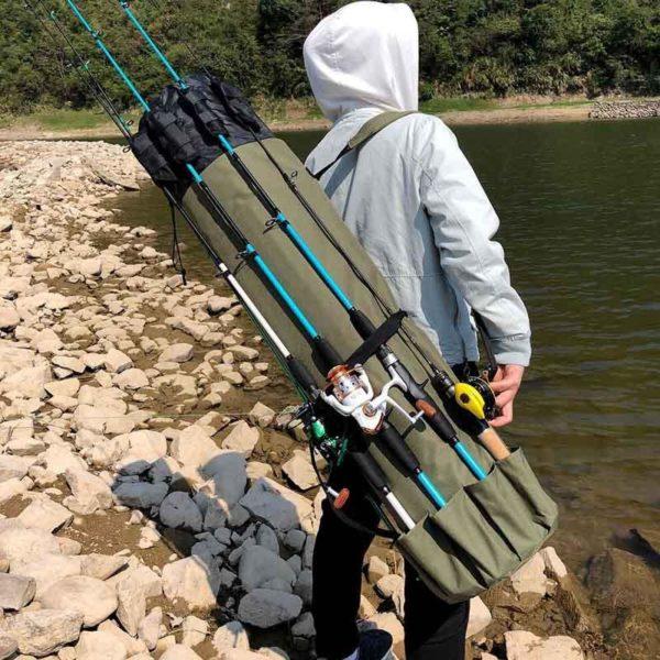 longsacdepeche 4 Long Sac De Pêche: Sac À Dos Idéal Pour La Pêche Avec Nombreuses Poches