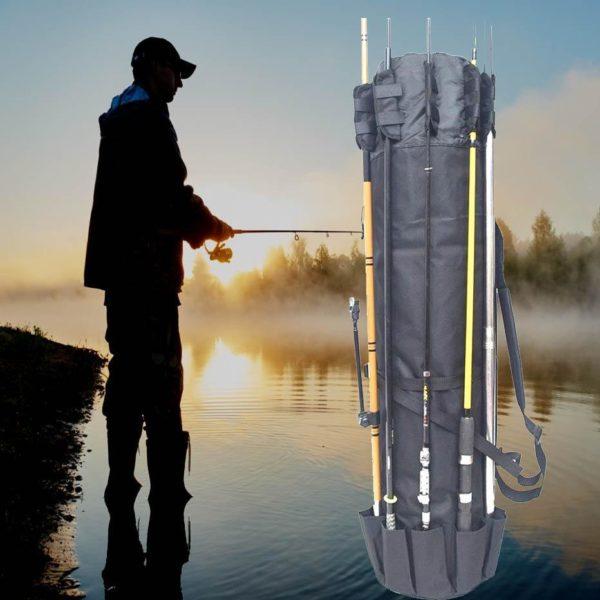 longsacdepeche 7 Long Sac De Pêche: Sac À Dos Idéal Pour La Pêche Avec Nombreuses Poches
