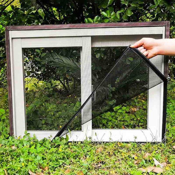 moustiquairefenetre 2 Moustiquaire Fenêtre: Fenêtre D'écran Invisible Moustiquaire Amovible Anti-moustique Peut Être Lavé