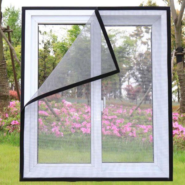 moustiquairefenetre 4 Moustiquaire Fenêtre: Fenêtre D'écran Invisible Moustiquaire Amovible Anti-moustique Peut Être Lavé