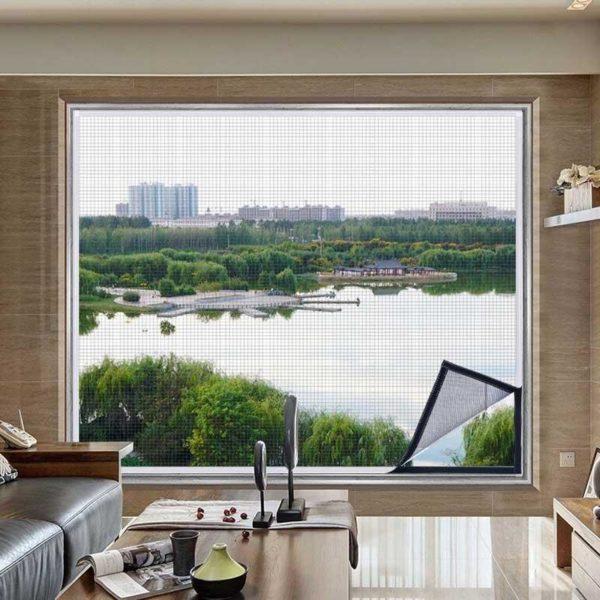 moustiquairefenetre 6 Moustiquaire Fenêtre: Fenêtre D'écran Invisible Moustiquaire Amovible Anti-moustique Peut Être Lavé