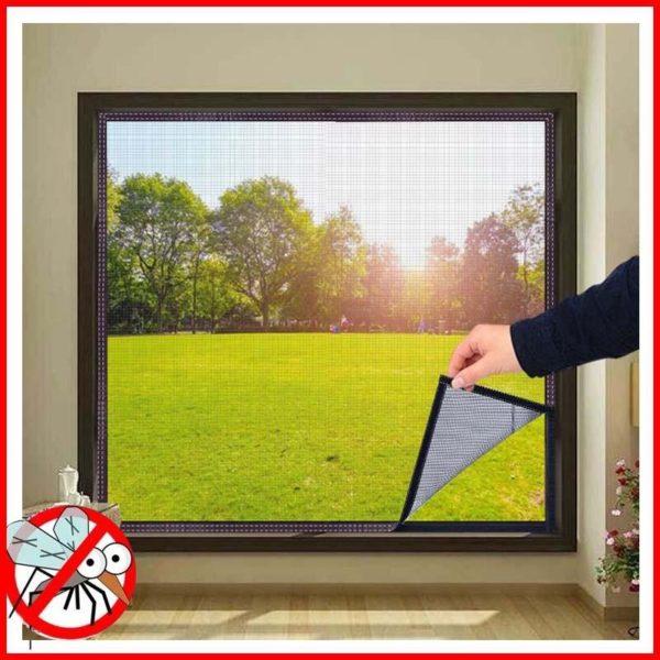 moustiquairefenetre 8 Moustiquaire Fenêtre: Fenêtre D'écran Invisible Moustiquaire Amovible Anti-moustique Peut Être Lavé