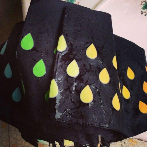 nouveau angleterre style mode couleur c main 5 Parapluie Changeant De Couleur: Ce Sera ChangerDe Couleur Au Contact De La Pluie