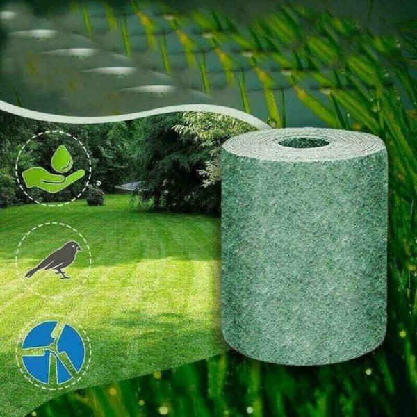 nouvelle herbe biodegradable cultiver ta description 6 min Tapis De Semence Gazon: Super Léger Et Facile À Déployer Et À Raviver Les Zones D'herbe Faibles.