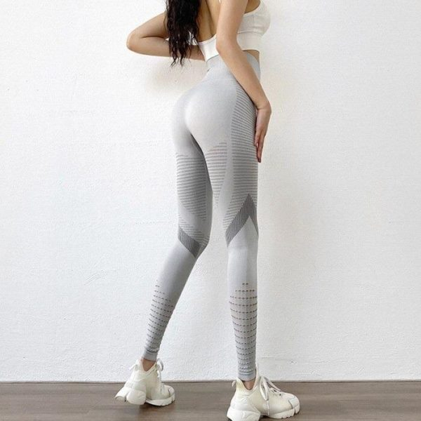 pantalon de yoga taille haute pour femme description 8 Leggings De Fitness: Legging D'entraînement Femme Sexy Respirant Taille Haute