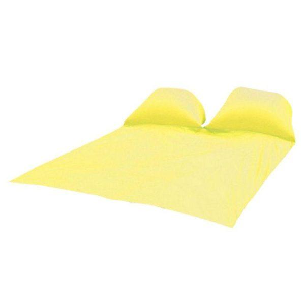 Tapis de Pique-nique : Coussins D'air Gonflables et Imperméables - JAUNE / Double personnes-145x210CM