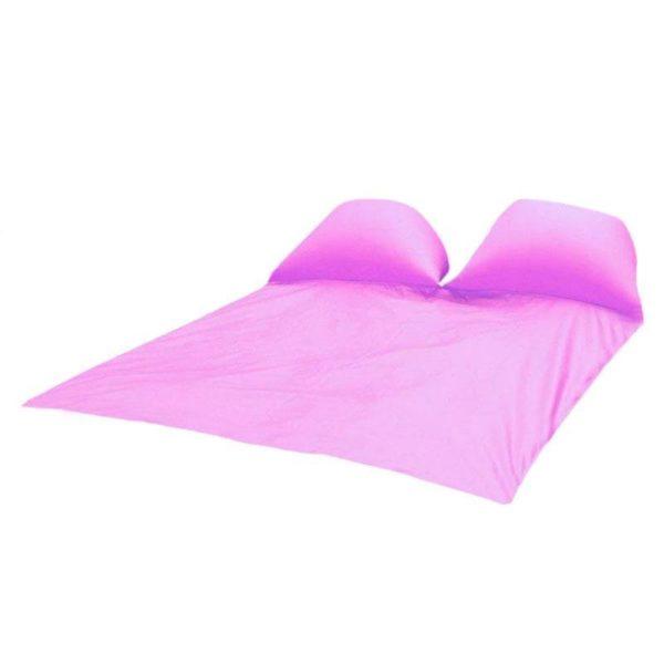 Tapis de Pique-nique : Coussins D'air Gonflables et Imperméables - ROSE / Double personnes-145x210CM