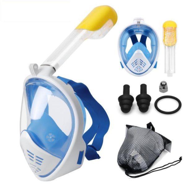 Couverture faciale De Snorkeling Anti-buée - Bleu / Enfant