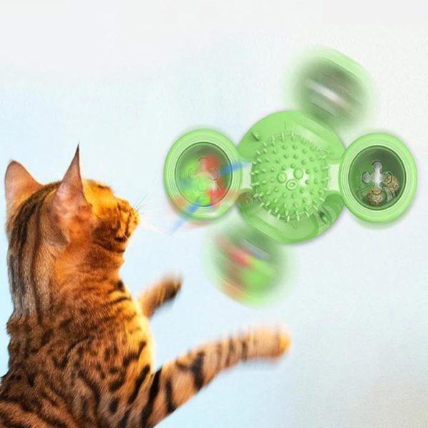 Jouet Spinner Chat: Véritable Anti-stress Pour Votre Chat - Vert