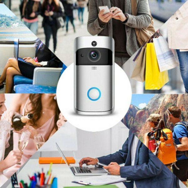 surveilance Caméra de Surveillance Sans Fil et Sonnette Connectée 720P