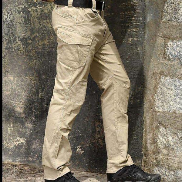 Pantalon Tactique: Pantalons De Bonne Qualité Et Imperméables Pour Usages Multiples - Kaki / S(76-81 CM)
